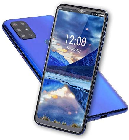 S20 Unlocked Smartphone, Cell Phone with Dual SIM Card Slot, 4 Core Cell Phone, 6.7″HD Screen, 128G Memory Card, 8MP + 13MP Cameras, Android Mobile Phone(Blue)