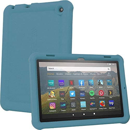 TECHGEAR Bumper Case fits All New Amazon Fire HD 8″ / HD 8 Plus 10th Generation / 2020, Rugged Shockproof Soft Silicone Easy Grip Case with Screen Protector [TWILIGHT] – Kids & School Friendly Case