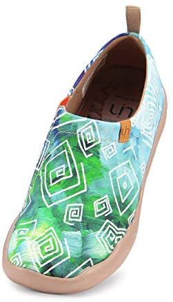 UIN Women's Blossom Canvas Ladies Comfortable Lightweight Special Exotic Walking Casual Gifts Art Painted Travel Shoe Multicolor