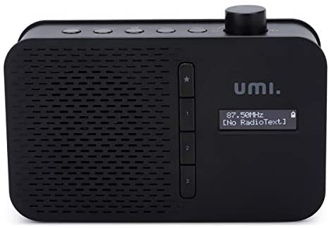 Umi. by Amazon Portable DAB/FM Radio with LCD Display Bluetooth, 3.5mm Headphone Jack, Dual Alarm, DAB/FM Telecopic Antenna, Power DC 5V and 4 x AA batteries