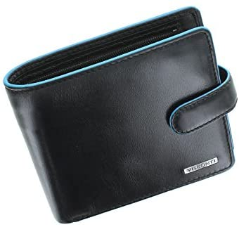 Visconti Alps Collection Tom Bi-Fold Leather Wallet with RFID Protection – ALP86 Black