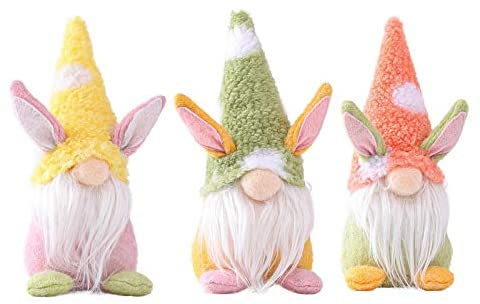 YIlanglang Easter Bunny Gnomes Decorations, Kids' Room Decor Gifts Nordic Swedish Nisse Scandinavian Faceless Plush Doll Home Household Ornaments for Kids