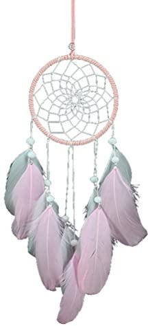 YOSEMITE Home Hanging Decoration Handmade Dream Catcher Pendant Ornament Circular Net with Faux Feathers for Wall Car Decor Craft Gift