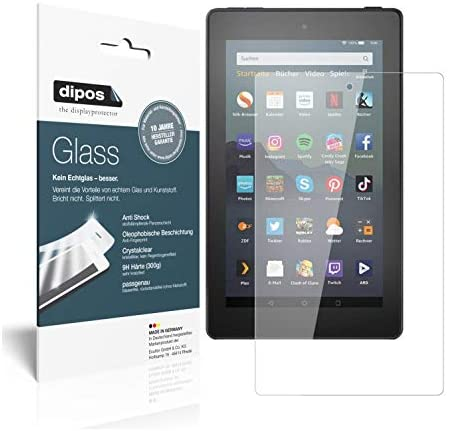 dipos I 2x Screen Protector compatible with Amazon Fire 7 Tablet Kids Edition (2019) Flexible Glass 9H Display Protection