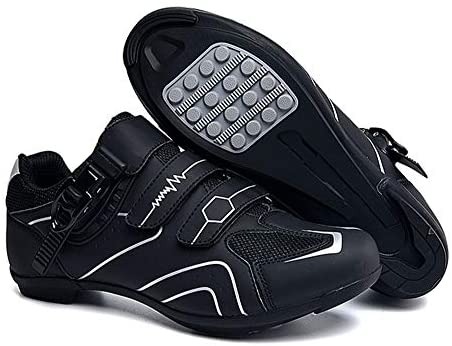 tangjiu Non-slip Cycling Shoes, Breathable Carbon Fiber Road and Mountain Bike Shoes, Assisted Sports Shoes with Reflective Strips