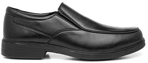 Hobos Mens Black Slip On Formal Shoe
