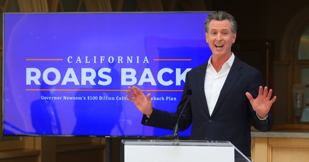 Gov. Gavin Newsom outlines a plan to boost tourism as California reopens.