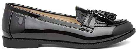 Lilley Womens Black Patent Loafer