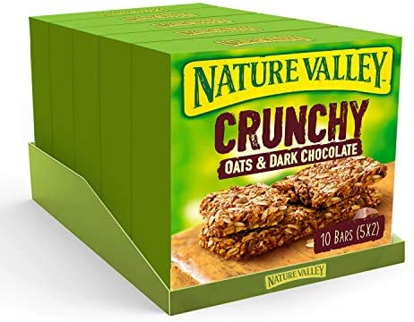 Nature Valley Oat & Chocolate Cereal Bars – 10 Bars (Pack of 5, total 50 Bars)