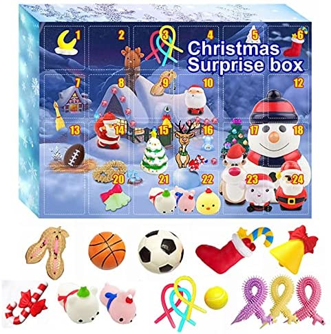 Advent Calendar 2021 – Fidget Christmas Countdown Calendar 24 Days Cheap Sensory Fidget Toys Set Novelty Decorations Gift Boxes for Kids Adults Stress Relief and Anxiety