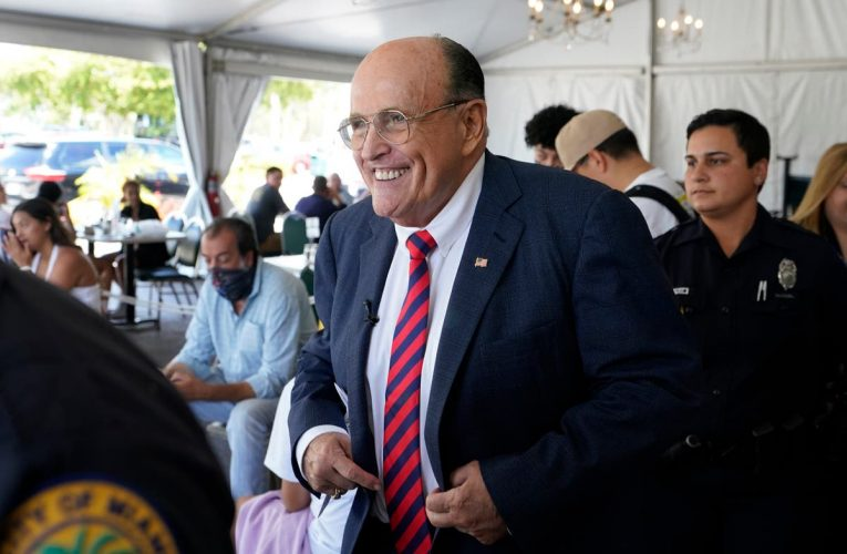 Giuliani appears with Trump at GOP fundraiser despite reports of anger at ex-president not helping pay his legal fees