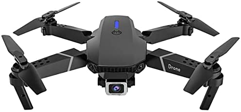 Drone with Camera for Beginners,E525 drone aerial photography HD camera 4K pixels long battery life remote control drone (4K dual camera) black (Black)