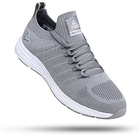 PEAK Mens Lightweight Walking Shoes Comfortable Slip On Sports Sneakers for Tennis, Gym, Running, Casual Workout