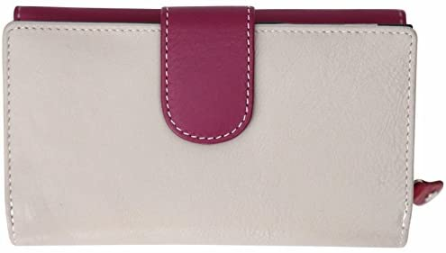Felda Womens Genuine Soft Leather Ladies Purse Clutch Wallet – Womens RFID Purse, Large Leather Purse for Women, Designer,Compact Coin Purse Maroon Multi