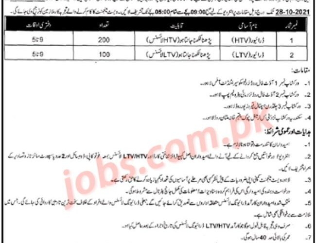 Lahore Waste Management Company Jobs 2021 for 300+ Drivers – Pakistan Jobs
