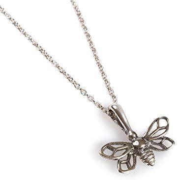 Silver Miniature Bumble Bee Necklace
