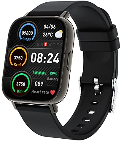 Smart Watch, 1.69″ Touch Screen Smart watch for Women Men, 24 Sports Modes Fitness Activity Trackers, IP67 Waterproof Step Counter Watch, Fitness Watch with Heart Rate Sleep Monitor for Android iOS