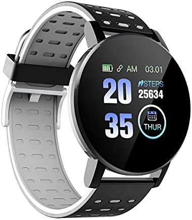 Smart Watch Houseege for Android and iPhone – Waterproof Smart Watches with Sports Mode, Notifications, Remote Camera Control – Stylish Smartwatches for Men and Women (Black)