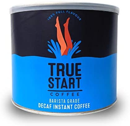 TrueStart Barista Grade Instant Coffee (DECAF) – 500g (250 Cups), Premium Freeze Dried Decaff Coffee, for Home Office Catering, Smooth Rich Roast, 100% Arabica Coffee