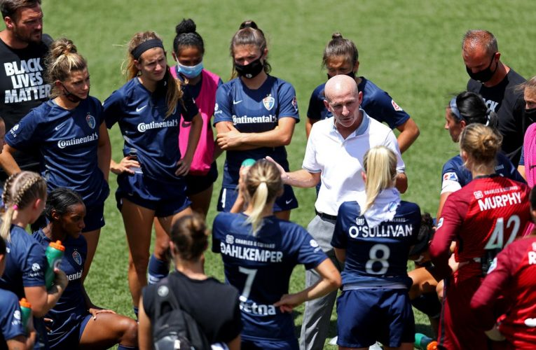 Who is British-born women's soccer coach accused of sexual misconduct?