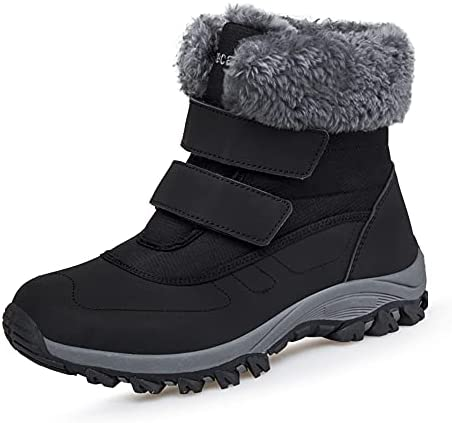 Winter Ankle Snow Boots with Warm Fur Lining Waterproof Women Warm Hiking Booties Anti Slip Shoes