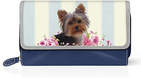Yorkie 'Playful Pup' Large Ladies' Purse, Custom-Designed, Handcrafted in Pebbled Faux Leather